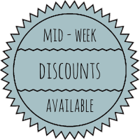 Mid Week Discounts Available
